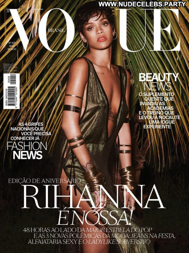 Rihanna Vogue Brazil Magazine Celebrity Babe Brazil Posing Hot