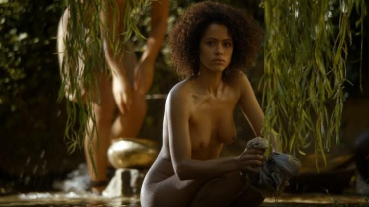 Missandei Topless on Game of Thrones - Nathalie Emmanuel Breasts