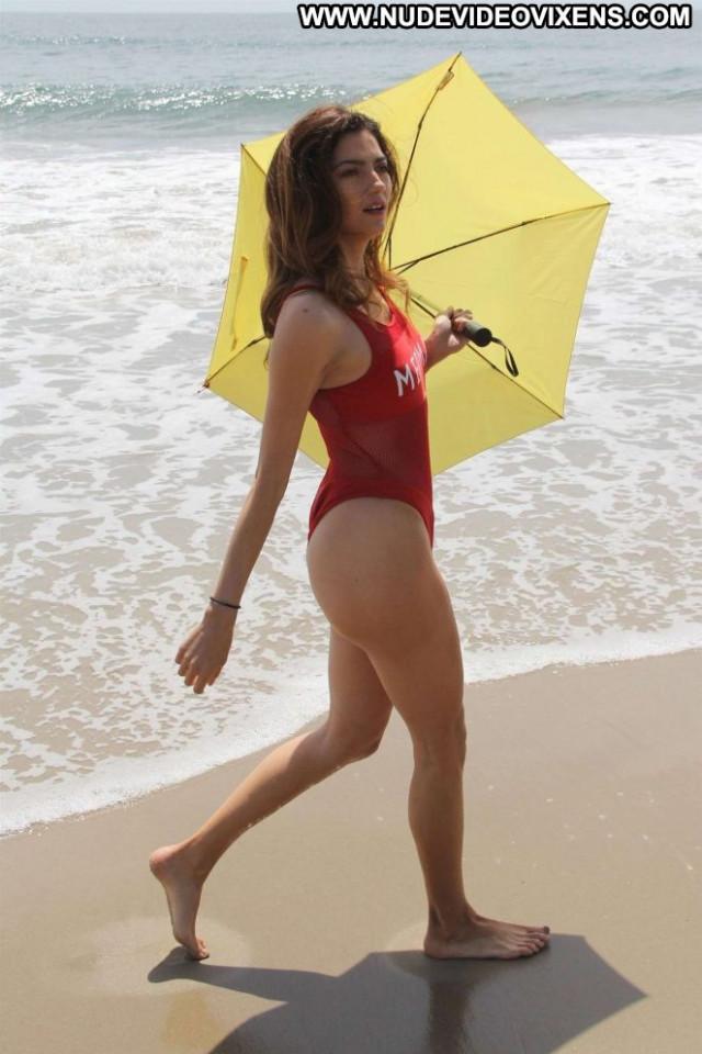 Blanca Blanco No Source Celebrity Posing Hot Malibu Beach Babe