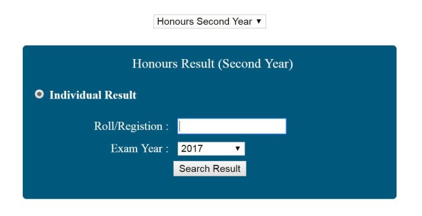 Honours 2nd year result 2019