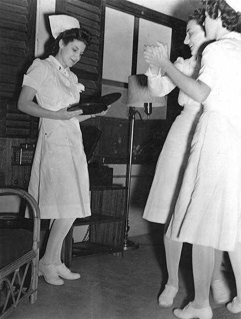 Nurses Dancing during World War II
