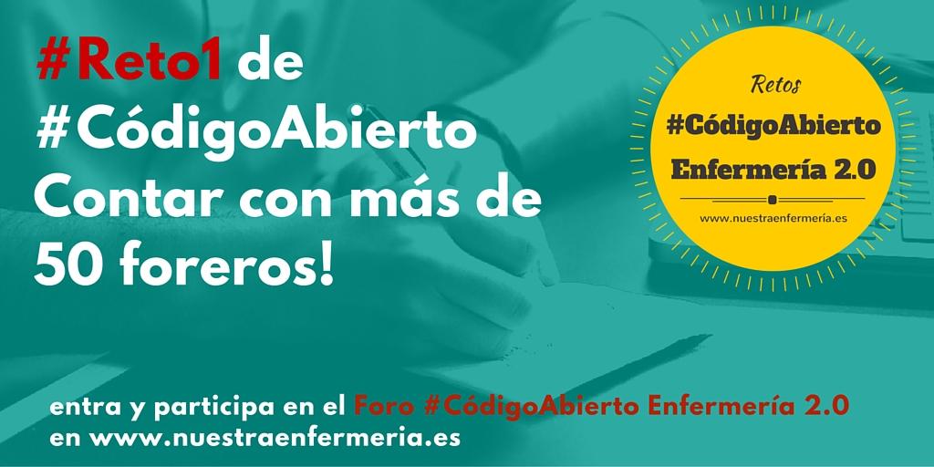 #Reto1 de #CódigoAbiertoContar con más de 50 foreros!