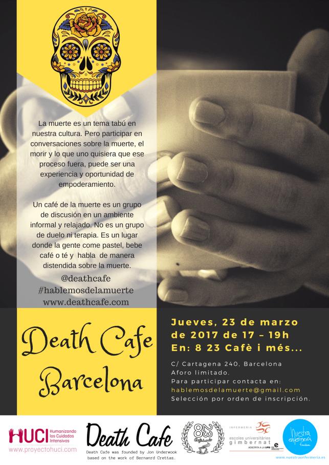 Death Café Barcelona one should sleep on newspaper 2