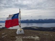Vista del Beagle desde el Cerro Bandera, Isla Navarino