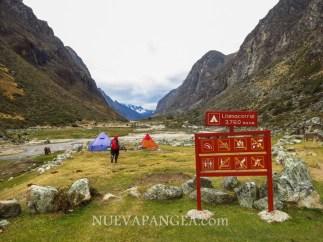 Llamacorral, primer campamento del trekking