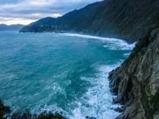 El mar de Liguria mostrando su polenta