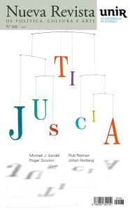 "Portada del número 168 de Nueva Revista titulada ""Justicia"""