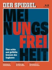 """Portada de """"Der Spiegel"""": """"Libertad de opinión. Sobre los límites reales y sentidos de lo decible"""""""