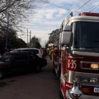 Se incendió una vivienda en el centro de Garín y debieron realizarle RCP a un menor de edad