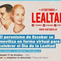 75 Octubres: el día de la lealtad peronista se celebra de manera virtual