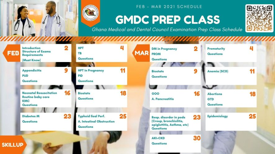 GMDC Prep Class Schedule