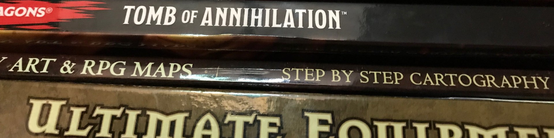 A stack of role-playing-game related books.