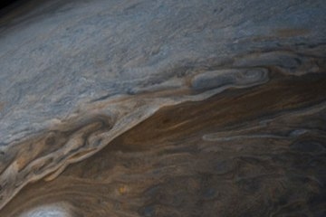 The swirling clouds of Jupiter.