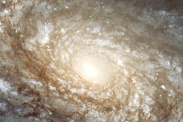 A large spiral galaxy.