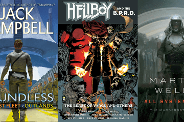 A collection of science fiction and fantasy book covers
