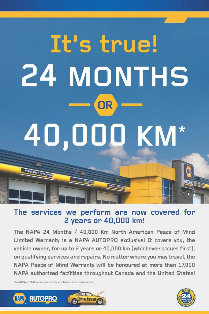 Auto Mechanic Warranty - NAPA Auto PRO at Nu Line Auto, Meadow Lake