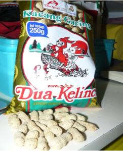 enaknya kacang garing dua kelinci