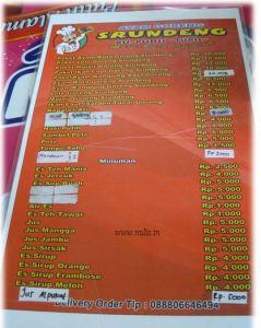 Price List RM Ayam Goreng Srundeng Purwokerto