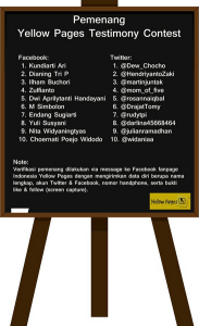 20 Pemenang Yellow Pages Testimony Contest