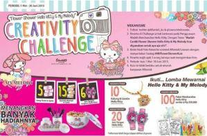 Creativity Challenge Hello Kitty Berhadiah Uang Tunai & Voucher Belanja