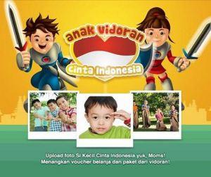 Anak Vidoran Cinta Indonesia Berhadiah 17 Paket Produk & Merchandise