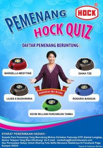 Pemenang Kompor Hock (Hock Quiz)
