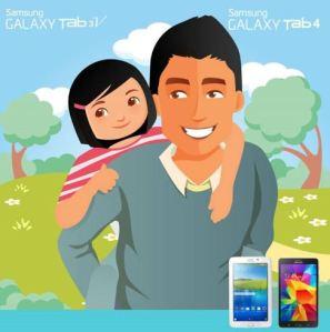 Share Foto Kebersamaan Ayah & Sikecil Berhadiah Samsung Galaxy Tab 3V