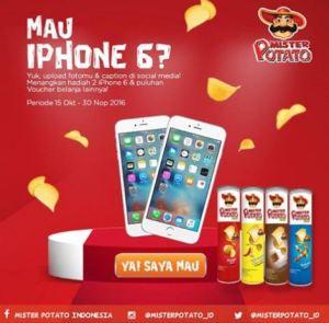 Upload Foto With Mister Potato Berhadiah Iphone & Voucher Belanja
