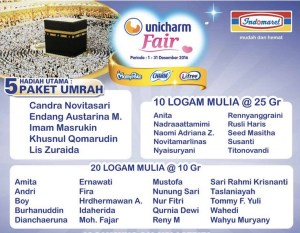 565 Pemenang Unicharm Fair Indomaret