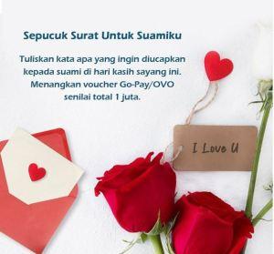 Bikin Surat Untuk Suami Dapet Voucher OVO/ Go-Pay, Maukan? Yuk!