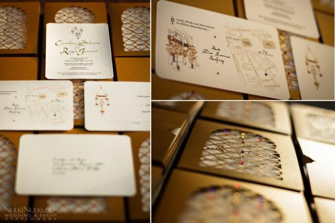 Moroccan Style Wedding Invitation Cards