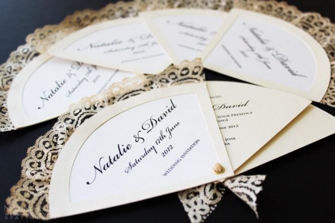 Church Style Fan Wedding Invitations