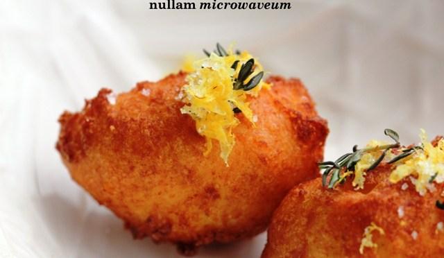 Beignets van pastinaak met gearomatiseerde fleur de sel