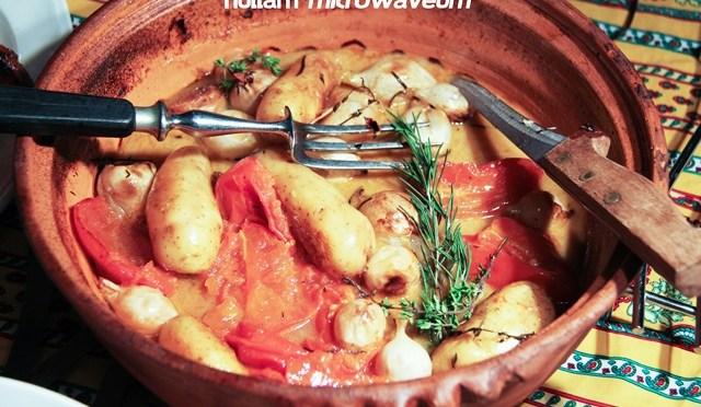 Poularde cuite en baeckeofe