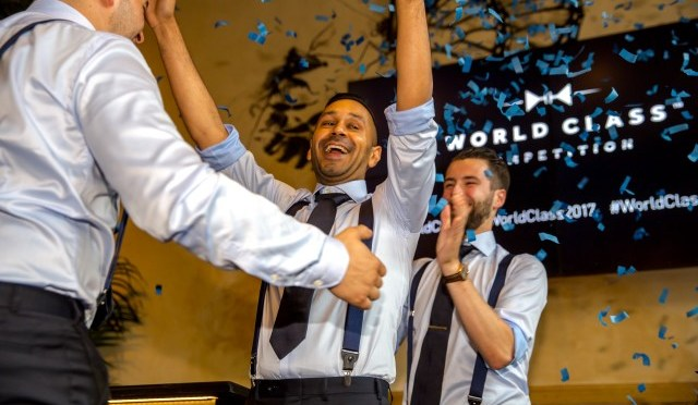 Naushad Rahamat van Cocktails At Nine wint de Belgische DIAGEO WORLD CLASS finale