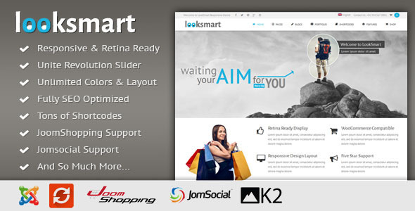 LookSmart - Responsive Multi-Purpose Joomla Theme