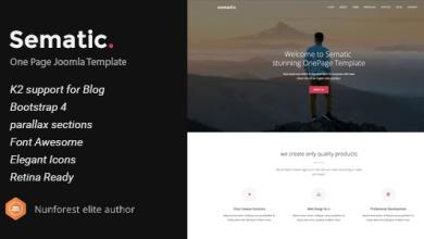 Sematic v2.0 - One Page Joomla Template