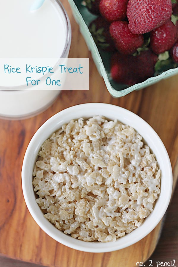 Microwave Rice Krispie Treat for One