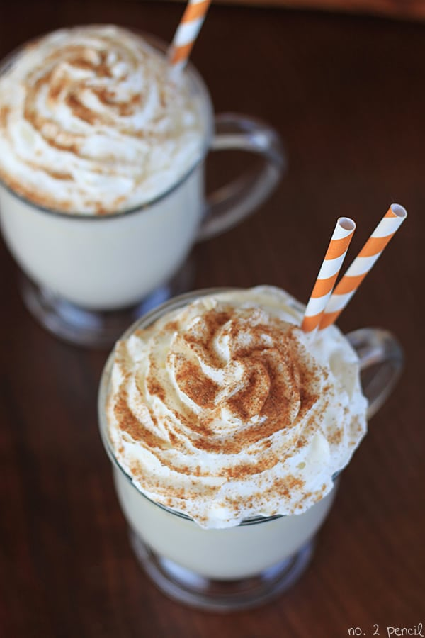 Pumpkin Spice White Hot Chocolate 2