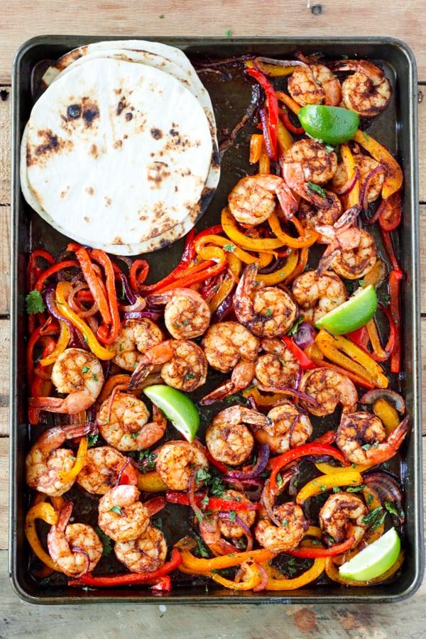 Sheet Pan Shrimp Fajitas Recipe