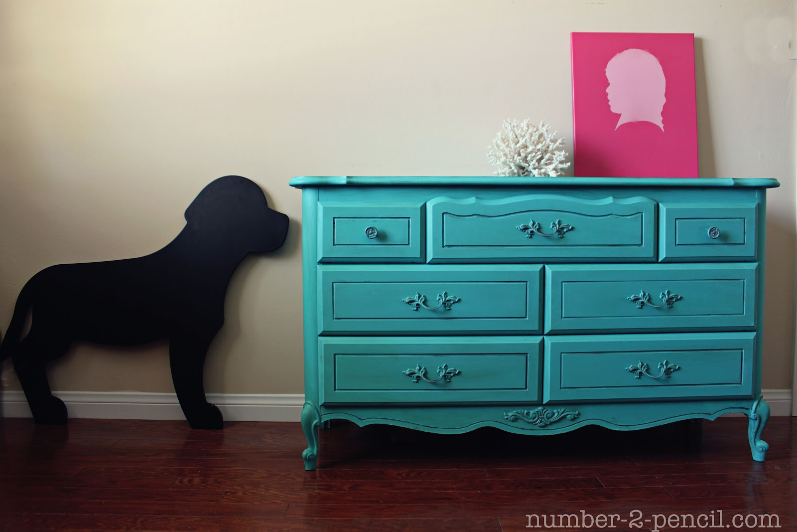 Turquoise Dresser Makeover With Chalk Paint No 2 Pencil