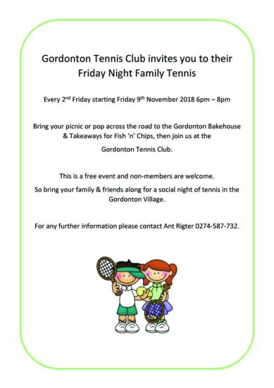 Gordonton Tennis Club