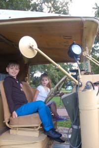 Two kids inside truck LR
