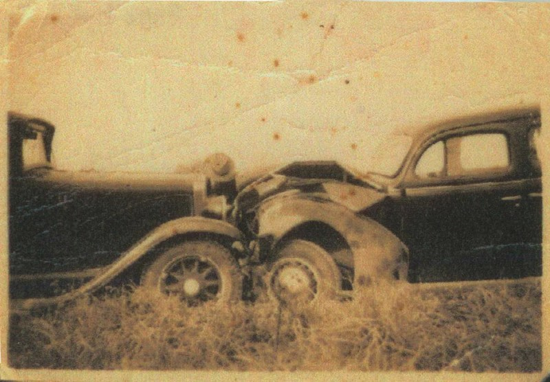Photo of historic car accident