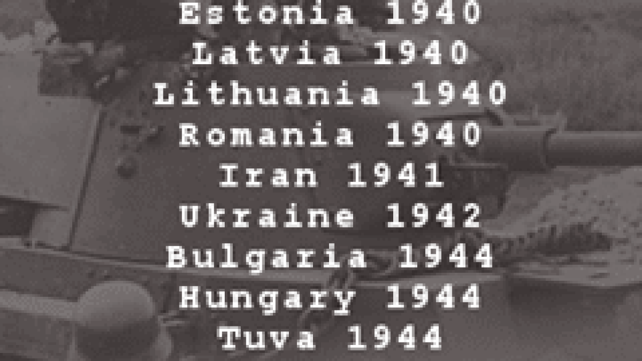 Soviet and Russian Invasions since 1917