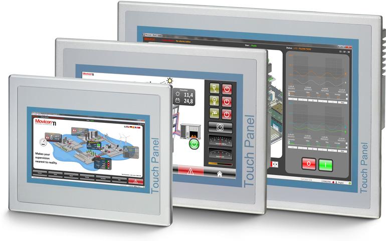 Сенсорные промышленные панели VIPA с установленной Scada-системой Movicon 11