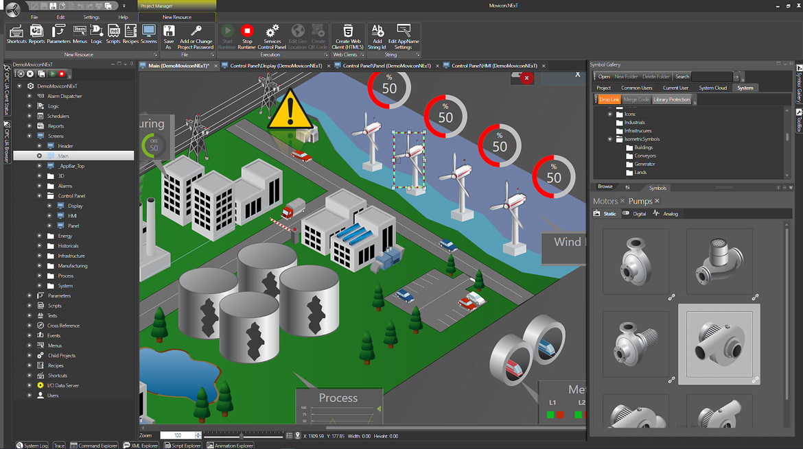 Scada-система Movicon Next by Progea