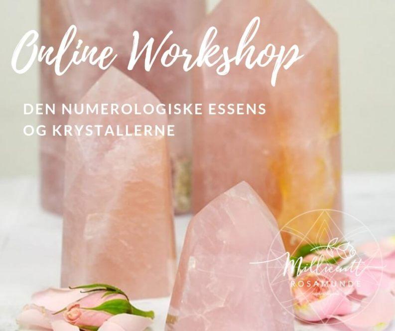 Online Workshop   den numerologiske essens og krystallerne - Numerolog Millicentt Rosamunde
