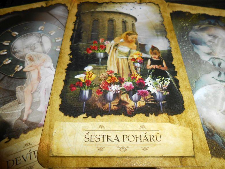 tarotová karta Šestka Pohárov