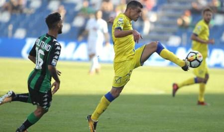 Pucciarelli e Politano nella sfida tra Chievo Verona e Sassuolo | numerosette.eu